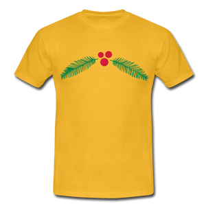 "T-Shirt ""Christmas"" - Gelb"