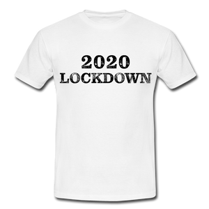 "T-Shirt ""Lockdown"" - Weiß"