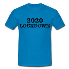 "Laden Sie das Bild in den Galerie-Viewer, T-Shirt ""Lockdown"" - Royalblau"