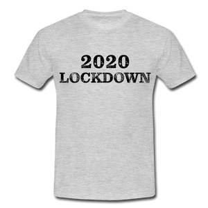 "T-Shirt ""Lockdown"" - Grau meliert"