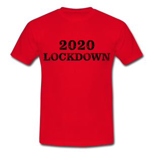 "T-Shirt ""Lockdown"" - Rot"