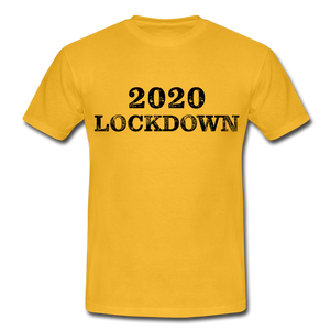 "T-Shirt ""Lockdown"" - Gelb"
