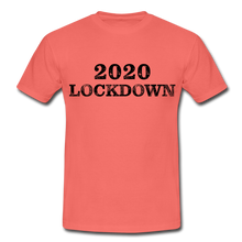 "Laden Sie das Bild in den Galerie-Viewer, T-Shirt ""Lockdown"" - Koralle"