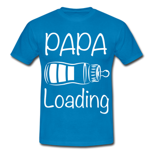 "T-Shirt ""Papa Loading"" - Royalblau"