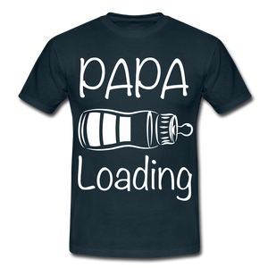 "T-Shirt ""Papa Loading"" - Navy"
