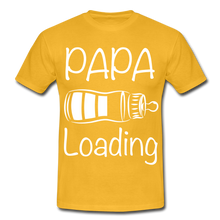 "Laden Sie das Bild in den Galerie-Viewer, T-Shirt ""Papa Loading"" - Gelb"
