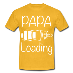 "T-Shirt ""Papa Loading"" - Gelb"