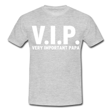 "Laden Sie das Bild in den Galerie-Viewer, T-Shirt ""V.I.P."" - Grau meliert"