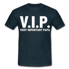 "Laden Sie das Bild in den Galerie-Viewer, T-Shirt ""V.I.P."" - Navy"