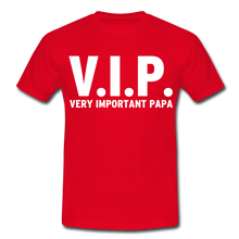 "Laden Sie das Bild in den Galerie-Viewer, T-Shirt ""V.I.P."" - Rot"