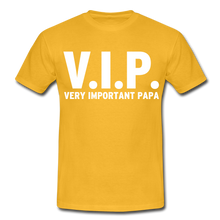 "Laden Sie das Bild in den Galerie-Viewer, T-Shirt ""V.I.P."" - Gelb"