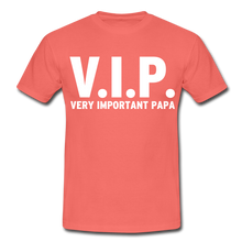 "Laden Sie das Bild in den Galerie-Viewer, T-Shirt ""V.I.P."" - Koralle"