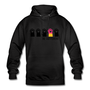 "Unisex Hoodie ""Be Different"" - Schwarz"