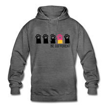 "Laden Sie das Bild in den Galerie-Viewer, Unisex Hoodie ""Be Different"" - Anthrazit"