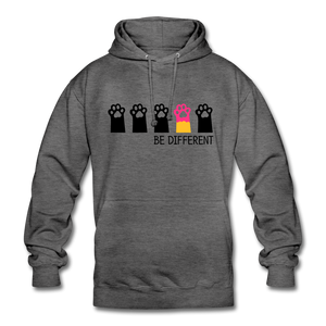 "Unisex Hoodie ""Be Different"" - Anthrazit"