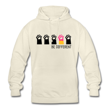 "Laden Sie das Bild in den Galerie-Viewer, Unisex Hoodie ""Be Different"" - Vanille-Milchshake"