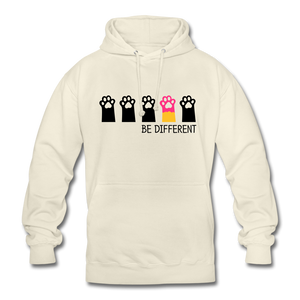 "Unisex Hoodie ""Be Different"" - Vanille-Milchshake"