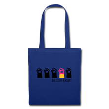 "Laden Sie das Bild in den Galerie-Viewer, Baumwolltasche ""Be Different"" - Royalblau"