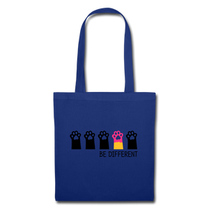 "Baumwolltasche ""Be Different"" - Royalblau"