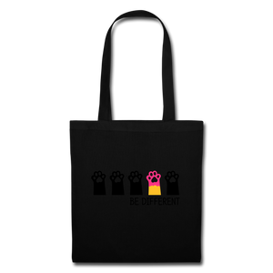 "Baumwolltasche ""Be Different"" - Schwarz"