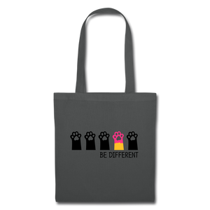 "Baumwolltasche ""Be Different"" - Graphite"