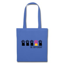 "Laden Sie das Bild in den Galerie-Viewer, Baumwolltasche ""Be Different"" - Hellblau"