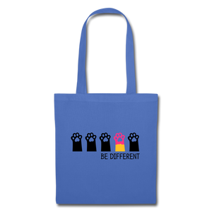 "Baumwolltasche ""Be Different"" - Hellblau"