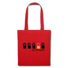 "Laden Sie das Bild in den Galerie-Viewer, Baumwolltasche ""Be Different"" - Rot"