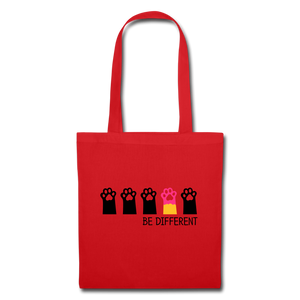 "Baumwolltasche ""Be Different"" - Rot"