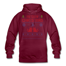 "Laden Sie das Bild in den Galerie-Viewer, Unisex Hoodie ""Meowy Christmas"" - Bordeaux"