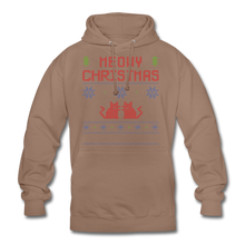 "Laden Sie das Bild in den Galerie-Viewer, Unisex Hoodie ""Meowy Christmas"" - Mokka"
