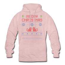 "Laden Sie das Bild in den Galerie-Viewer, Unisex Hoodie ""Meowy Christmas"" - Surferpink"