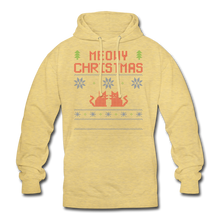 "Laden Sie das Bild in den Galerie-Viewer, Unisex Hoodie ""Meowy Christmas"" - Surfergelb"