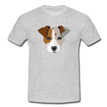 "Laden Sie das Bild in den Galerie-Viewer, T-Shirt ""Jack Russel"" - Grau meliert"
