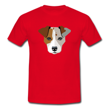 "Laden Sie das Bild in den Galerie-Viewer, T-Shirt ""Jack Russel"" - Rot"