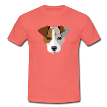 "Laden Sie das Bild in den Galerie-Viewer, T-Shirt ""Jack Russel"" - Koralle"