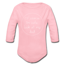 "Laden Sie das Bild in den Galerie-Viewer, Organic Baby Bodysuit ""Cute"" - Hellrosa"