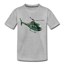"Laden Sie das Bild in den Galerie-Viewer, Kinder Premium T-Shirt ""Helikopter"" - Grau meliert"