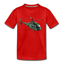 "Laden Sie das Bild in den Galerie-Viewer, Kinder Premium T-Shirt ""Helikopter"" - Rot"