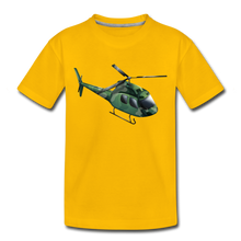 "Laden Sie das Bild in den Galerie-Viewer, Kinder Premium T-Shirt ""Helikopter"" - Sonnengelb"