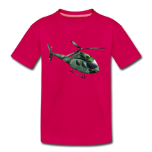 "Laden Sie das Bild in den Galerie-Viewer, Kinder Premium T-Shirt ""Helikopter"" - dunkles Pink"