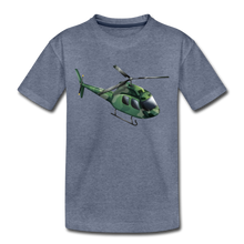 "Laden Sie das Bild in den Galerie-Viewer, Kinder Premium T-Shirt ""Helikopter"" - Blau meliert"