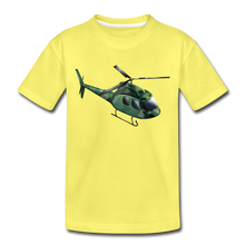 "Laden Sie das Bild in den Galerie-Viewer, Kinder Premium T-Shirt ""Helikopter"" - Gelb"