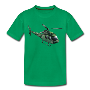 "Kinder Premium T-Shirt ""Helikopter"" - Kelly Green"
