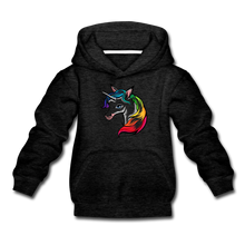 "Laden Sie das Bild in den Galerie-Viewer, Kinder Premium Hoodie ""Einhorn"" - Anthrazit"