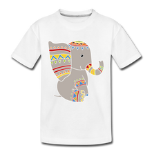 "Laden Sie das Bild in den Galerie-Viewer, Kinder Premium T-Shirt ""Elefant"" - Weiß"