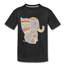 "Laden Sie das Bild in den Galerie-Viewer, Kinder Premium T-Shirt ""Elefant"" - Schwarz"