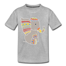 "Laden Sie das Bild in den Galerie-Viewer, Kinder Premium T-Shirt ""Elefant"" - Grau meliert"