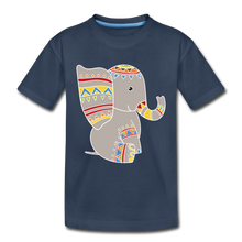 "Laden Sie das Bild in den Galerie-Viewer, Kinder Premium T-Shirt ""Elefant"" - Navy"