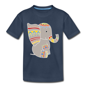 "Kinder Premium T-Shirt ""Elefant"" - Navy"